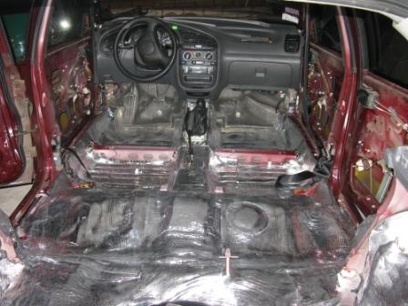 Шумоизоляция Daewoo Lanos Галерея Шумоизоляция автомобилей Шумоизоляция